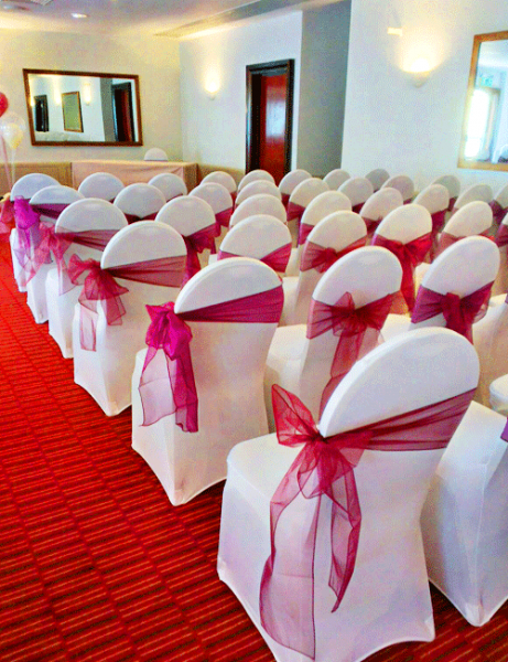 An Image Of Chair Cover Colours/types Available For Hire 2